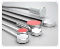Temperature probes with round plate